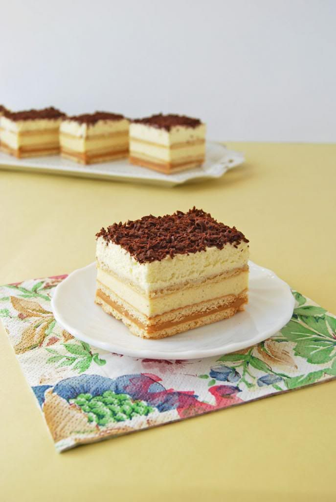 Kekszes karamellás-vaníliás kocka