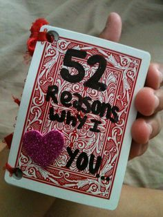 "DIY Gift ideas to consider ""52 reasons why MHS loves you"" 2 cards per club. There are 24 clubs at the school! Give as a holiday or valentines day gift to every club from ASB"