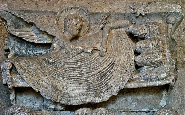 9. Catedral de Autun - Gislebertus. El sueño de los Magos.