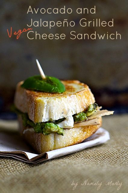 Grilled Jalapeño and Delicious Avocado combine in this Fabulous Grilled Vegan Cheese Sandwich!