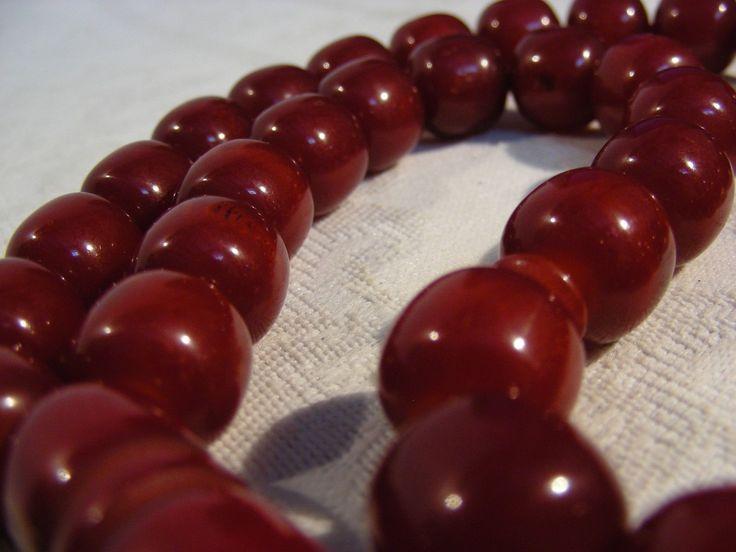 Vintage Antique Islamic Cherry Prayer Beads Tesbih Misbaha Faturan | eBay
