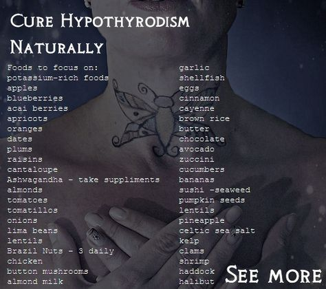 Hypothyroidism.... I see chocolate on the list. Some say chocolate is good, some say it's not. I'm going with good to eat, since I have no problems with it.