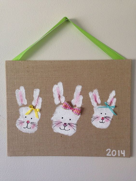 Idee Per La Pasqua Con Impronte Dei Bambini Lavoretti Creativi
