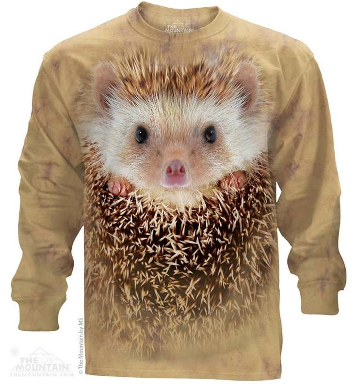 Hedgehog Long Sleeve T-Shirt - Womens Clothing - - Women T-Shirt - T-Shirts for women - Mens Clothing - Mens t-shirts - t-shirt for men - Unisex T-Shirts - Cotton T-Shirts - Long Sleeve T-Shirts - Long Sleeve T-Shirt - Christmas Ideas - Presents for Christmas