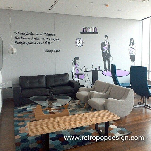 decoracion oficinas Cusezar. Proyecto con vinilos decorativos