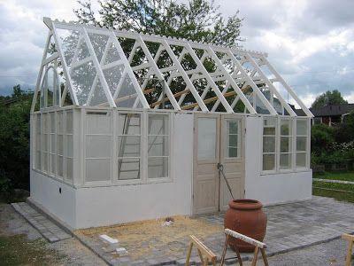Isas Trädgård: Växthusbygge