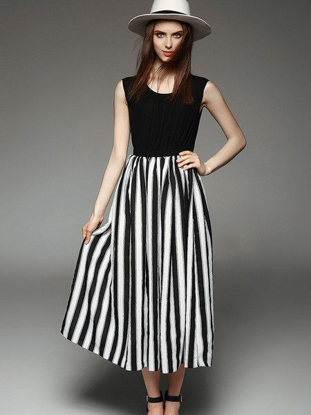 #Paneled Linen Maxi #Dress from #fashion #women's collection