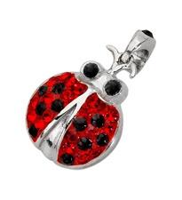 Amore & Baci Swarovski ladybird pendant