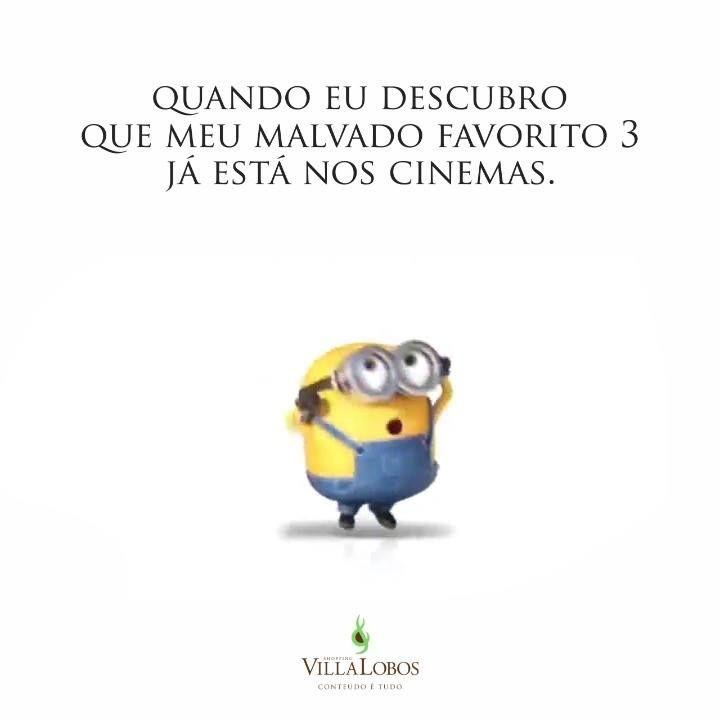 Marque seu amigo! Se ele não CURTIR seu comentário em 5 minutos ele te deve um ingresso pra assistir #MeuMalvadoFavorito3 #Minion #Minions