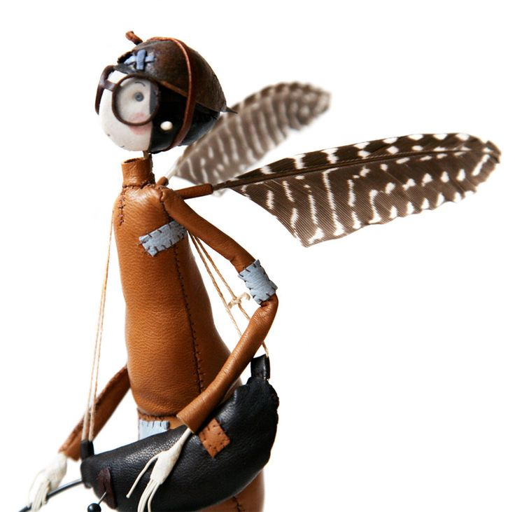 Desire to Fly: Samantha Bryans Hand Crafted Sculptures of Whimsical Aviator Fairies Going about Their Daily Lives