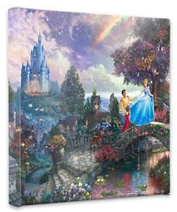Cinderella - Cinderella Wishes Upon a Dream - Gallery Wrapped - Thomas Kinkade - World-Wide-Art.com - $79.00 #Disney #Kinkade