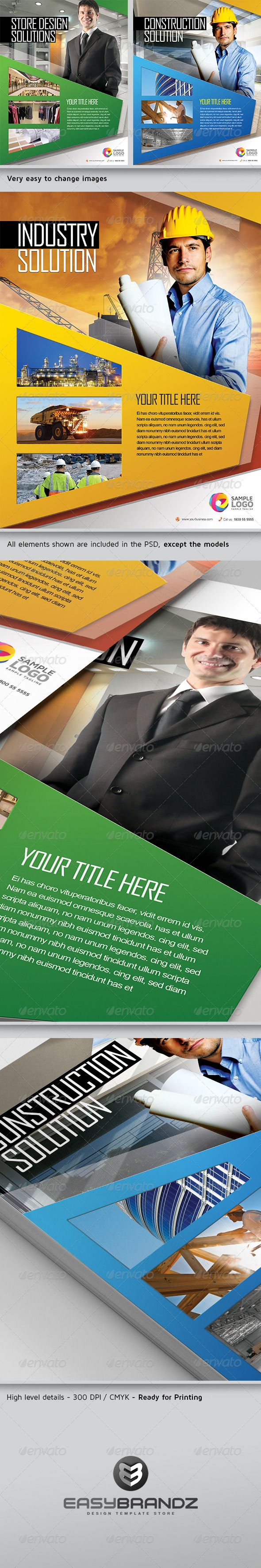 """Multipurpose Business Flyer / AD Template Vol.02   #GraphicRiver         This template is perfect for any company that needs a modern corporate style flyer or magazine ads template. Easy to modify, like changing colors, dimensions, etc. All text are editable. You can too hide and show some layers and obtain unique results!   Features:   1 Print ready Photoshop file (11×8.5 inches with .25"""" bleeds)  Each layer has its own name for your convenience. The template is much easier to edit.  All…"""