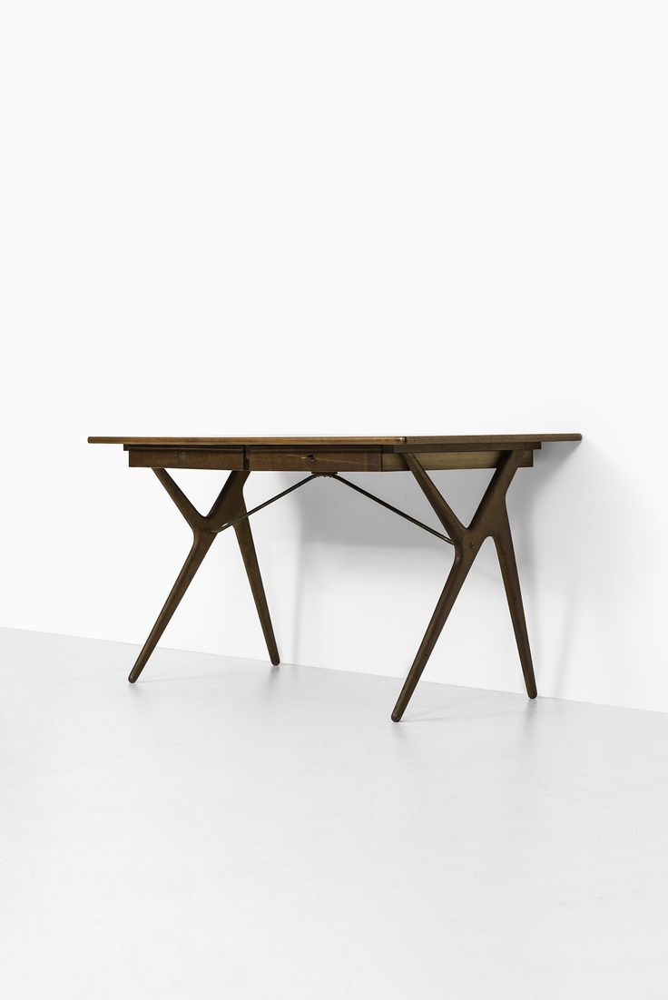 Rare desk in teak, oak and brass at Studio Schalling