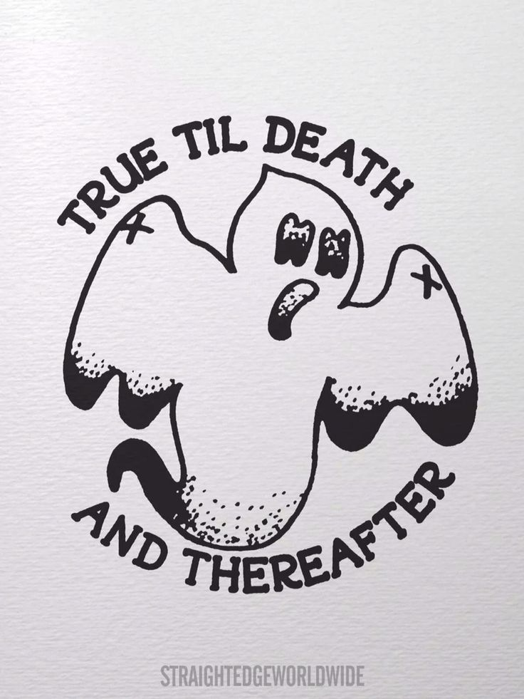 Straight edge, even after death. ✘✔