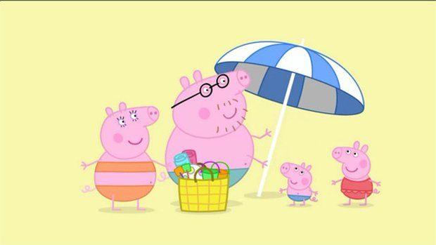 Tänään Pipsa Possu pääsee rannalle, tätä päivää on odotettu! Eväät ovat mukana ja auringonvarjo laitettu paikoilleen, niinpä mukava rantapäivä voi alkaa.