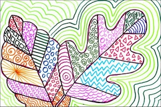 Art Projects for Kids: Line Art Leaves