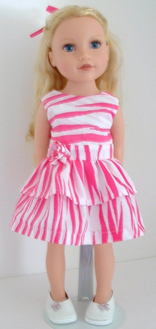 Lots of cute clothes on this site     Pink Zebra Striped Party Dress