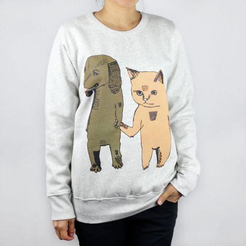 Monsterthreads Jumper - Cat + Dog Grey Marle Jumper