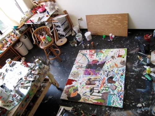 Painting Studio--I would give my bedroom up in a heartbeat in exchange for this room, and shove a bed in a corner.