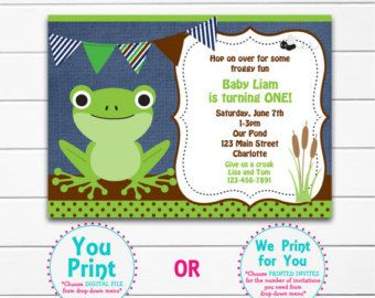 Frog Girl Cupcake Toppers Set of 12 by PaperPartyParade on Etsy