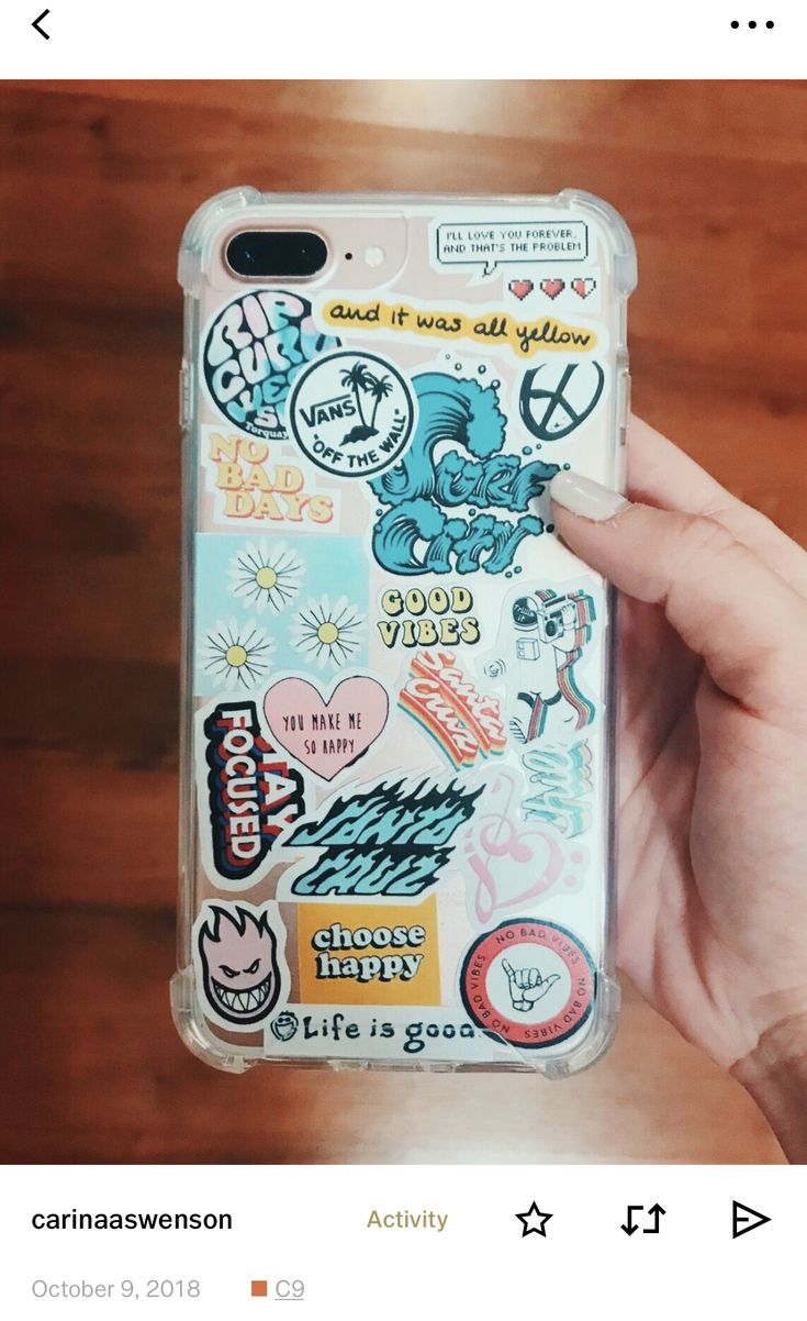 phone case w stickers vsco