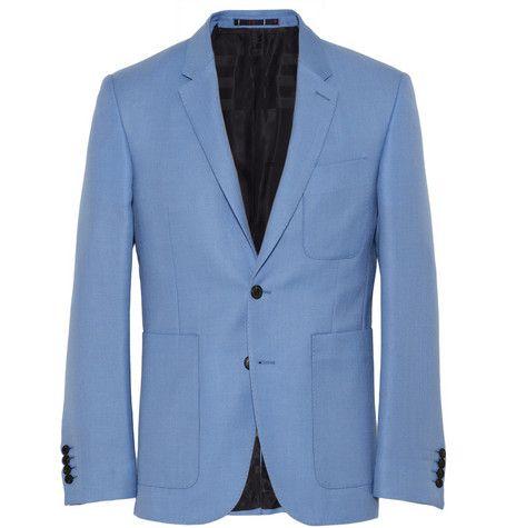 Burberry London Wool and Mohair-Blend Blazer