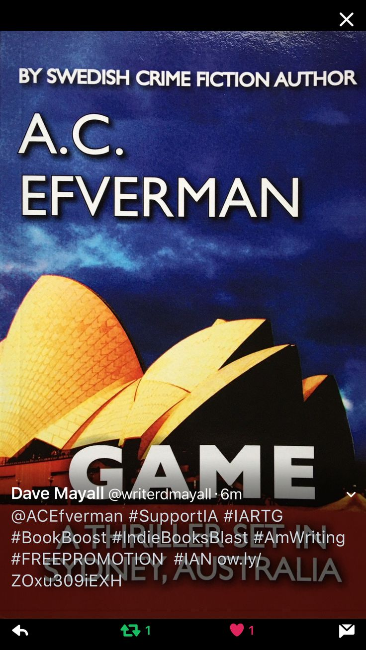 Book blog about A.C. Efverman's crime fiction novel 'GAME', by Dave Mayall (UK).