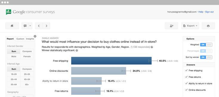 Home | Google Consumer Surveys