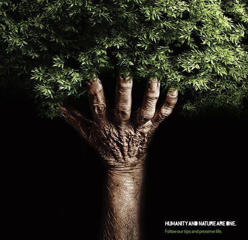 Humanity and nature are one.