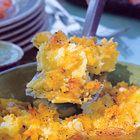 Geroosterde aardappelpuree met knoflook en rozemarijn