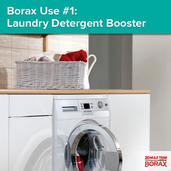 28 best laundry 101 tips tricks images on pinterest laundry borax use 1 laundry detergent booster to increase cleaning power of detergent solutioingenieria Choice Image