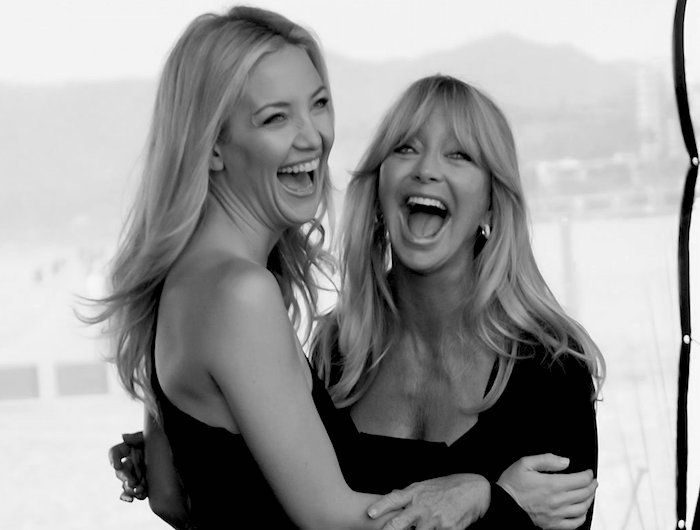 """Goldie Hawn & Kate Hudson: Hudson: """"We stood in front of the mirror one time and we were both smiling. We just caught that little moment when we looked alike."""""""
