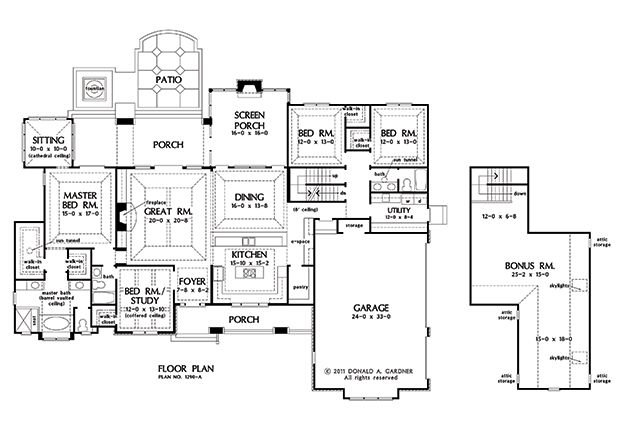 Basement Stair Option Of The Chesnee House Plan Number