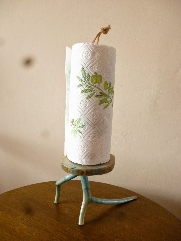 wooden paper towel stand