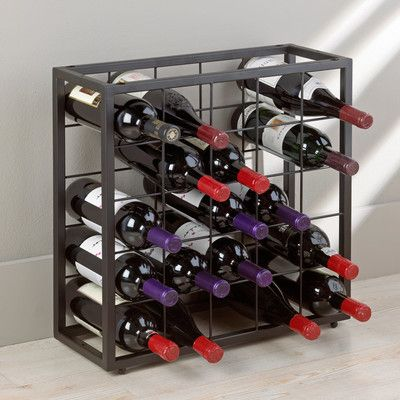 Wine Enthusiast Companies Table Top 25 Bottle Stackable Wine Rack & Reviews | Wayfair