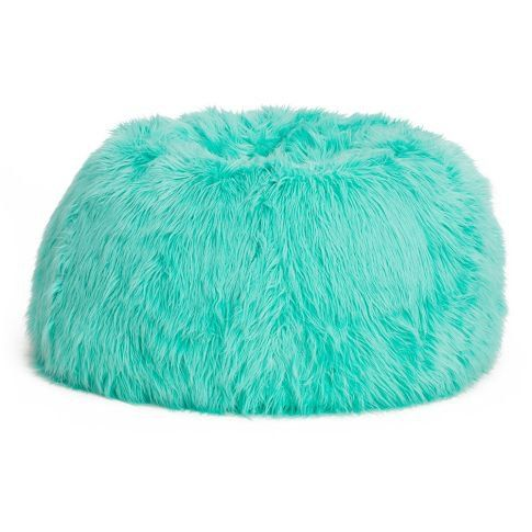 Blue Fuzzy Bean Bag Chair Bed Rooms Pinterest