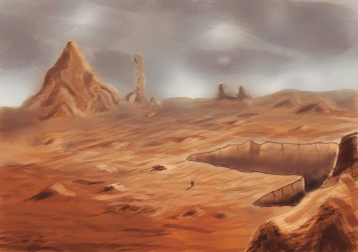 mars landscape drawing - Google Search | Teragon ...