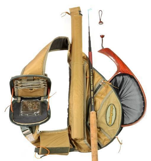 Hemingway s tenkara outfit total solution contents for Backpack fishing rod
