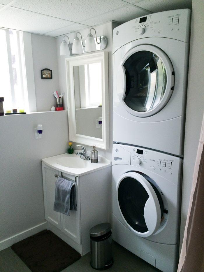 Stackable Washer Dryer In Bathroom Or Kitchen New Decorating Thoughts Pinterest