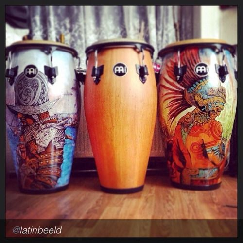 "Fan photo of the Day by @latinbeeld ""My homepimp congas"" #meinl #percussion #meinlpercussion #meinlfamily #custommade #identity #percussionrig #mycongas #mymeinl (GB)"