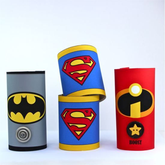 Superhero Cuffs DIY from free printable and toilet paper roll