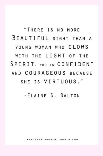 I Love this so very much! :') Elaine S. Dalton I miss her so much! :\