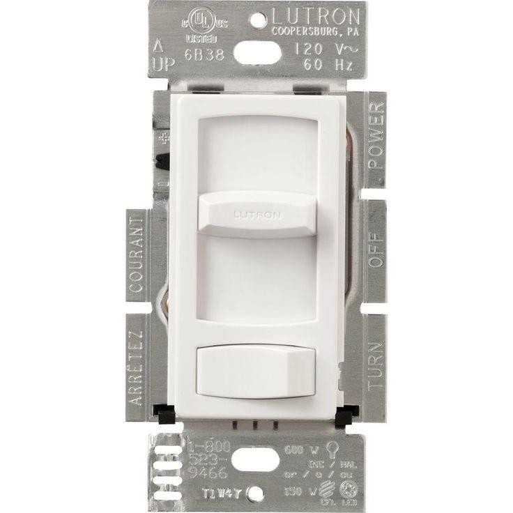 Lutron Skylark Contour 150-Watt Single-Pole/3-Way CFL-LED Dimmer - White