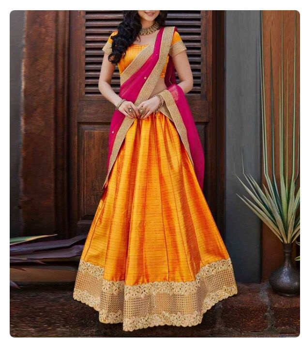 Golden yellow and pink awesome combination