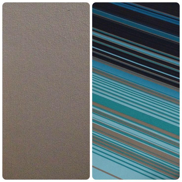 Homestyling by Chris!  Till vänster - kulören på två väggar i vardagsrummet, dessa jag målade här om veckan!  Till höger - tänkta tapeten till resterande två väggarna!  Ser ut att kunna matcha riktigt grymt! Tror det kan bli riktigt snyggt faktiskt! #homedesign #homestyling #design #walls #paint #color #wallpaper #tapet #färg #väggar #vardagsrum