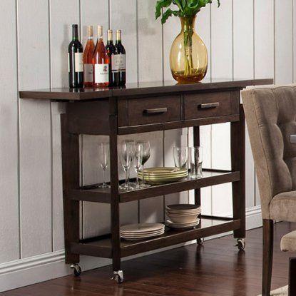 Alpine Furniture Uptown Kitchen Cart - Dark Mocha | Hayneedle