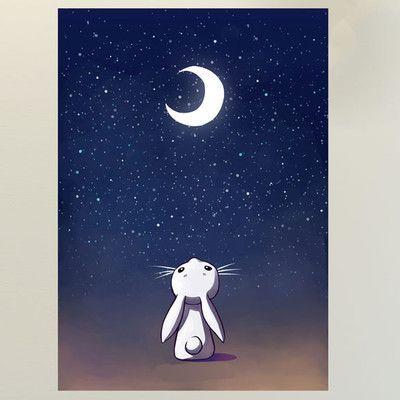 My Wonderful Walls Anime Moon and Rabbit Wall Decal Size: Medium