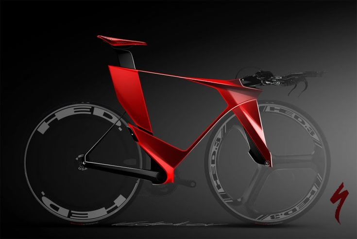 If you want something built for speed, check out Ilya Vostrikov's design. It's a reimagining of a bike by Specialized called TT, and the dropped handlebars keep your body in a position optimized for speed.