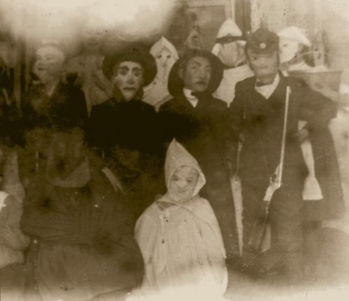 """Creepy vintage Halloween costumes. """"We've been expecting you."""""""