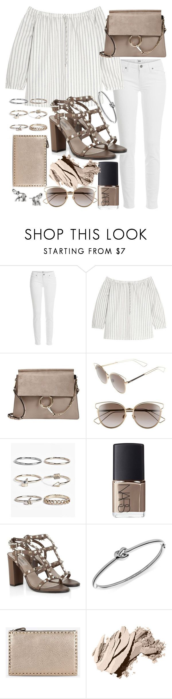 """Untitled #19662"" by florencia95 ❤ liked on Polyvore featuring Paige Denim, Madewell, Chloé, Christian Dior, Boohoo, NARS Cosmetics, Valentino, Michael Kors, Bobbi Brown Cosmetics and Lonna & Lilly"